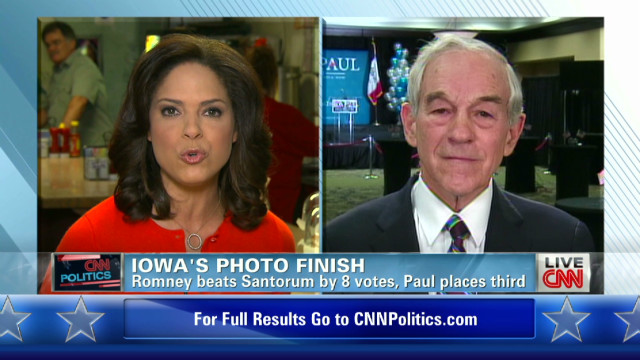 Ron Paul discusses third place finish