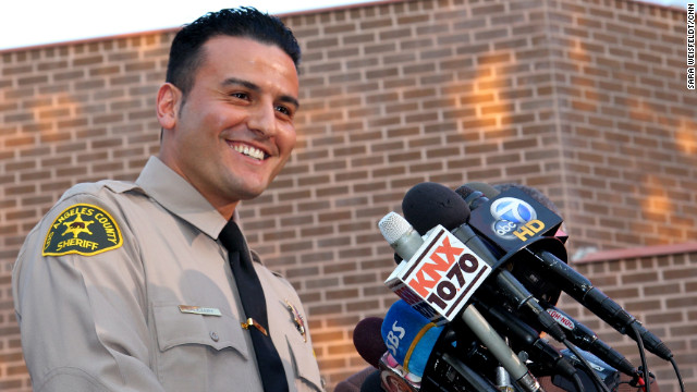 Reserve Deputy Shervin Lalezary wins praise after arresting an arson suspect in a string of fires in the Los Angeles area.