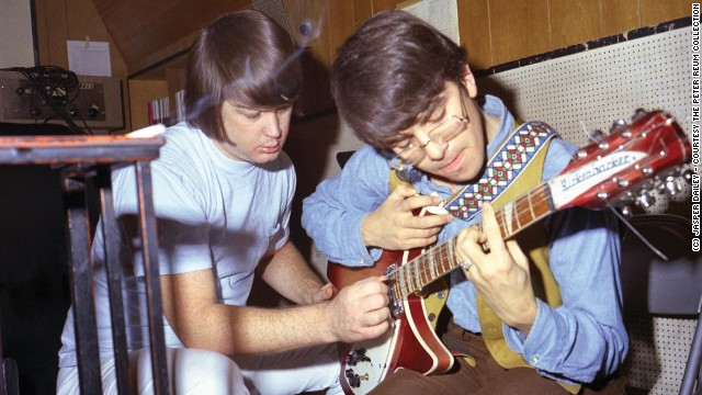 "Van Dyke Parks (right, with Brian Wilson) was Wilson's ""Smile"" lyricist."