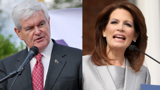 Gingrich believes that Michele Bachmann has great courage.