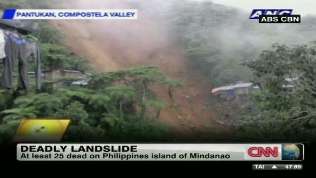 Dozens dead in Philippines landslide
