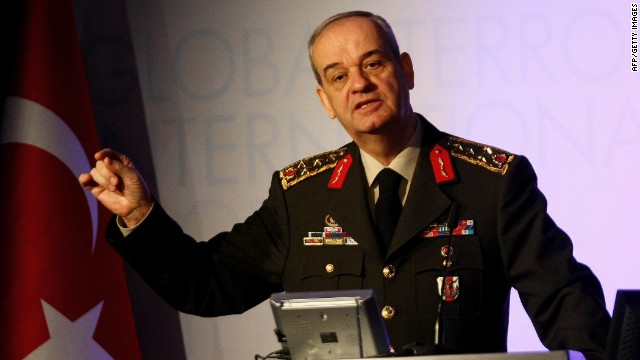 Gen. Ilker Basbug has been charged in a plot to overthrow Turkey's government (file photo).