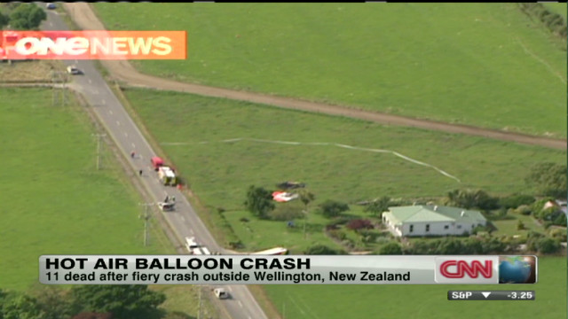 Hot air balloon crash in New Zealand