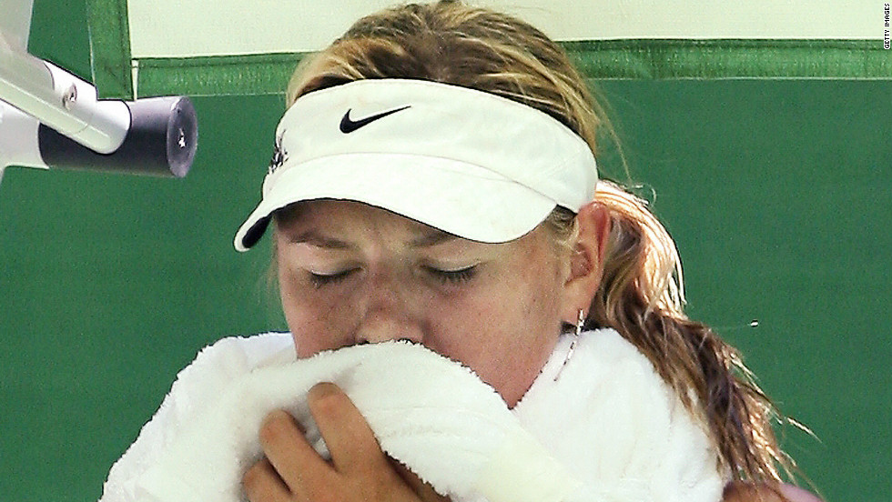 """Maria Sharapova described conditions as """"inhuman"""" after her infamous 2007 encounter at Melbourne Park with France's Camille Pin."""