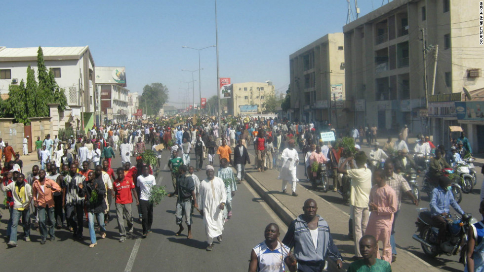 Protesters took to the streets on Monday, January 9, in a nationwide strike against the Nigerian government's decision to take away fuel subsidies.