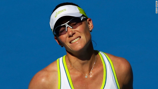 Australian tennis star Samantha Stosur has been eliminated in the early stages of her first two tournaments in 2012.