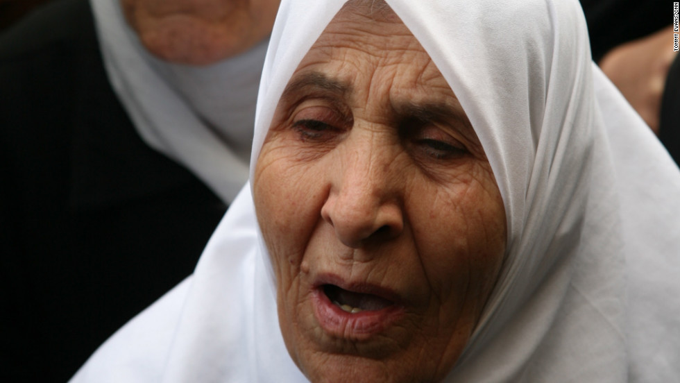 Elderly women in join the anti-regime protest in Koudsia.