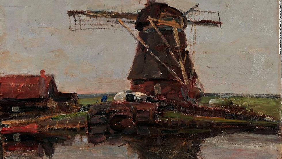 """Landscape with a Mill"" (1905), by Dutch artist Piet Mondrian, was also taken in the raid. The thief tried to make off with another Mondrian work, but dropped it while trying to make his escape."