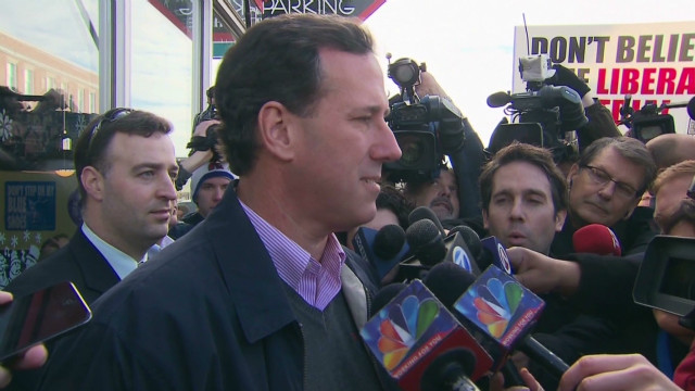 Santorum predicts race with Romney