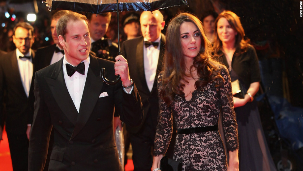 "The Duchess of Cambridge, seen here with her husband, Prince William, celebrates her 30th birthday on January 9, 2012. The royal couple attended the star-studded UK premiere of ""War Horse"" in London on Sunday, March 8."