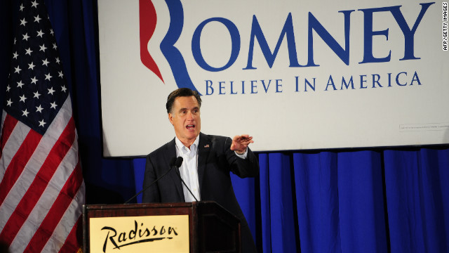 Mitt Romney attended a chamber of commerce breakfast in Nashau, New Hampshire, the day before the state's primary.