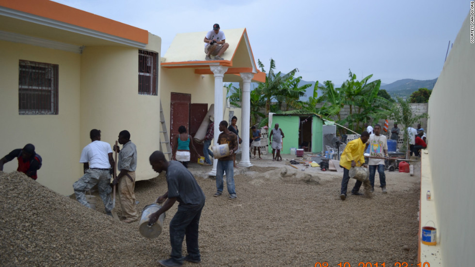 Haitian craftsmen and a team of CAN-DO volunteers rebuild the Bless A Child Orphanage 15 miles outside Port-au-Prince. CAN-DO employed more than 50 local workers for 12 days to complete the revitalization project.