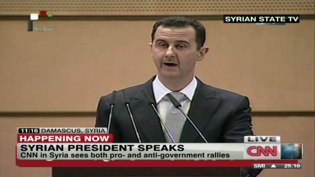 Al-Assad addresses violence in Syria