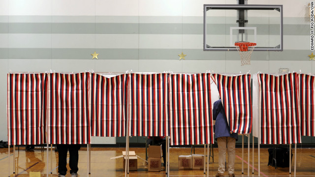 Voters cast their ballots Tuesday at a polling place in Nashua, New Hampshire.