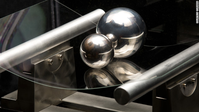 New versions of Corning's Gorilla Glass, shown here, may be strong and flexibile enough to be used in curved displays.
