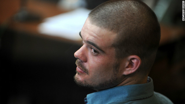 Dutch national Joran Van der Sloot at a hearing at the Lurigancho prison in Lima on January 11, 2011.