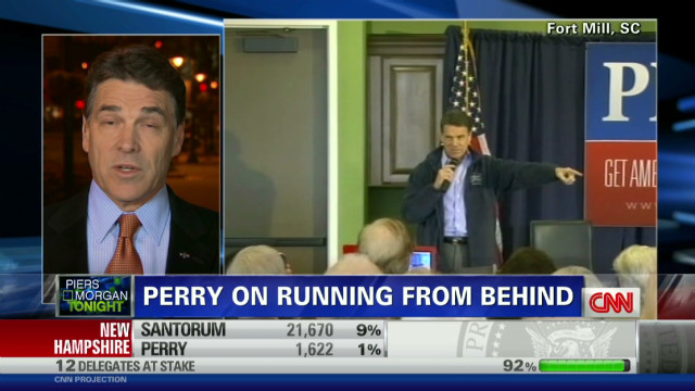 Perry: Mitt doesn't have it in the bag