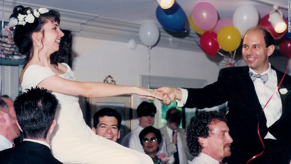 """Kodak captured the joy of my daughter's traditional Jewish wedding (in 1994) when she and her new husband were carried aloft by guests,"" Linda Woodward said. <a href=""http://ireport.cnn.com/topics/726798"">See more Kodak moments on CNN iReport.</a>"