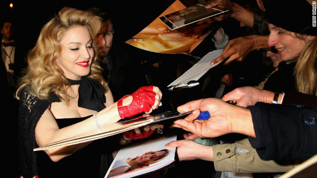 Madonna arrives at the UK premiere of W.E., at ODEON Kensington on January 11, 2012 in London.