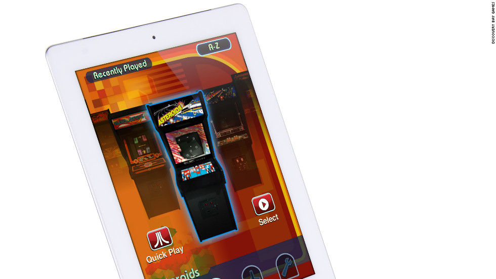 "If you own an iPad and are nostalgic for those arcade video games of your misspent youth, <a href=""http://discoverybaygames.com/appcessories/atari-arcade-duo-powered-joystick"" target=""_blank"">this gadget</a> is for you. Slip the iPad or iPad 2 into the dock, download an Atari app and wiggle the joystick to play Asteroids, Centipede and all those retro classics. Available: now. Price: $59."