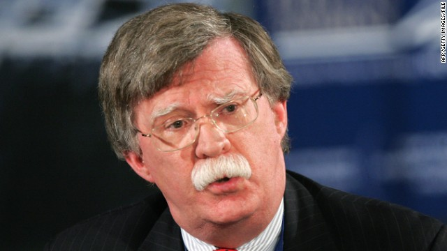 John Bolton, former U.S. ambassador to the United Nations,  as pictured in January 2008