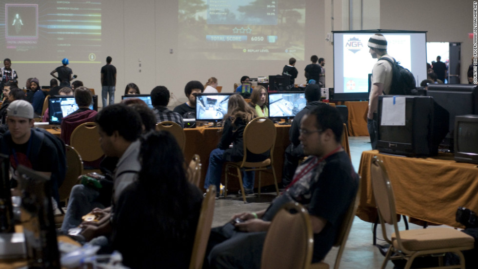 The MAGfest gaming room stays open the majority of the event, offering everything from group play to single player experiences.