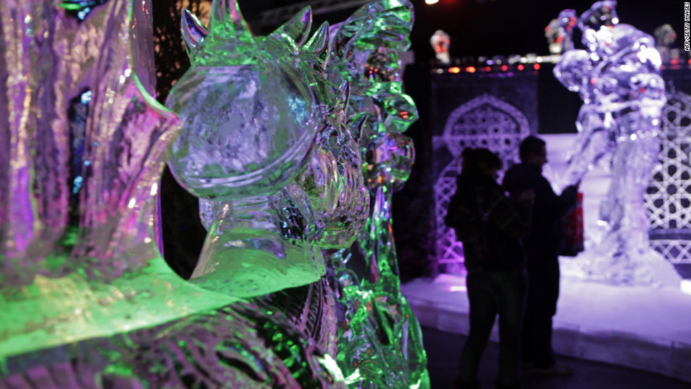 The Netherlands city of Zwolle is host to an ice sculptors festival. This year the first Dutch ice hotel opened at the festival.