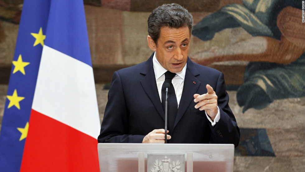 France's President Nicolas Sarkozy at the presidential Elysee Palace in Paris January 13, 2012.
