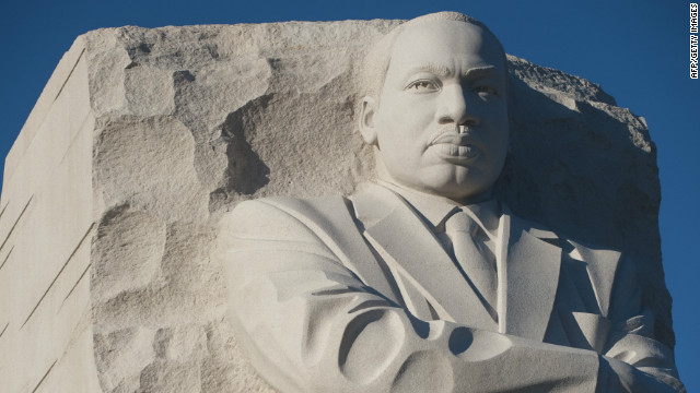 The Martin Luther King Jr. memorial is on the National Mall in Washington,.
