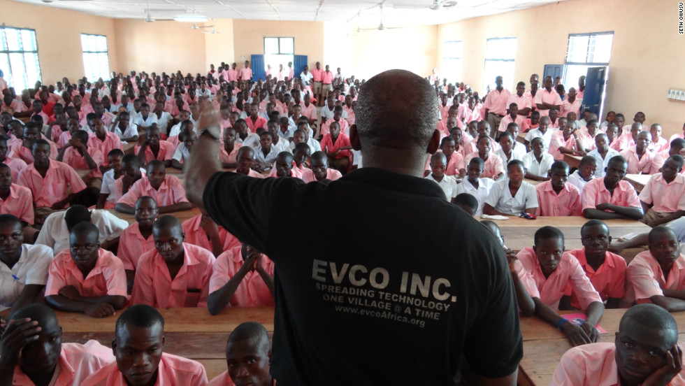 EVCO also runs training workshops, provides technical support and maintains an ongoing relationship with the recipients of their computers.