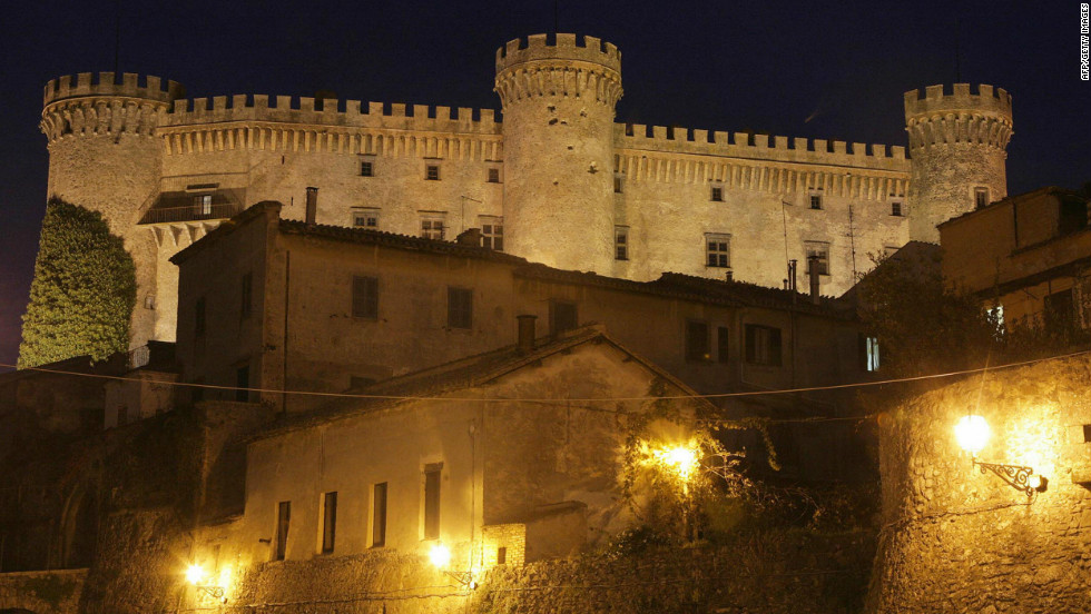 The 15th century castle is just a short drive from Rome.