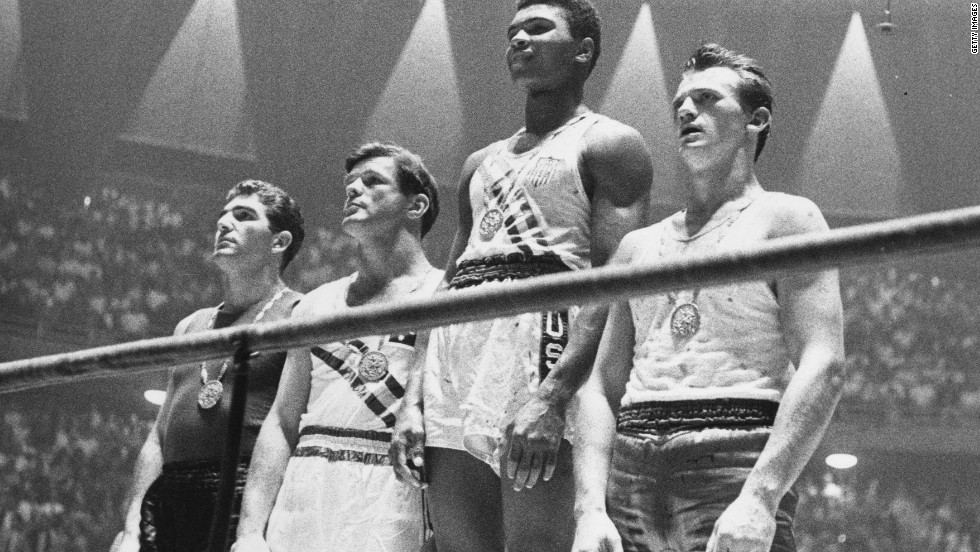 Cassius Clay, later to become known as Muhammad Ali, rose to prominence at the 1960 Olympic Games in Rome, where he claimed a boxing gold medal in the light heavyweight division.