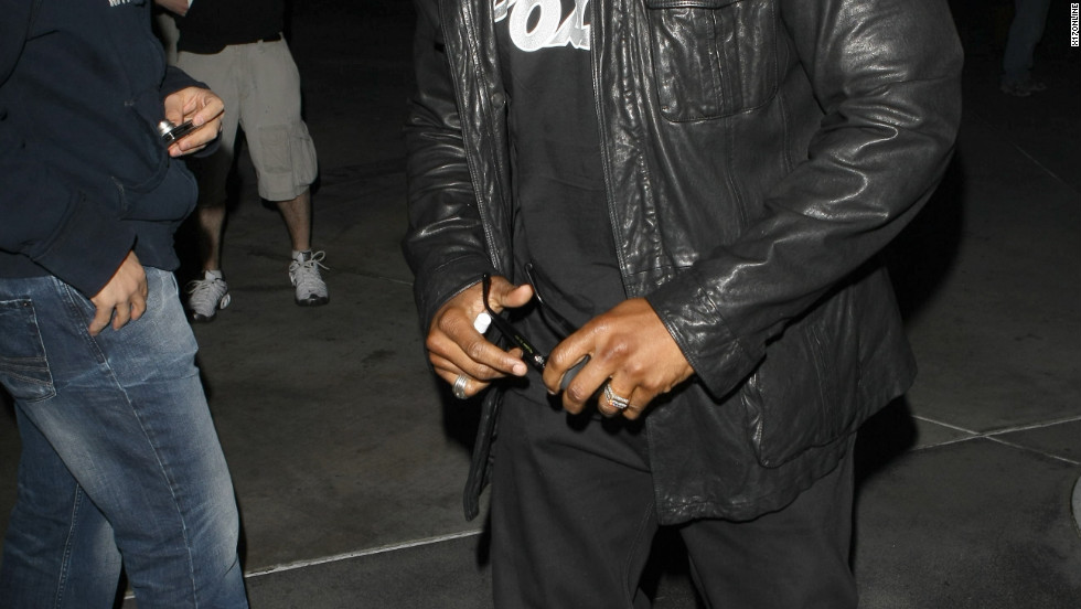 LL Cool J attends a Laker's game in Los Angeles.