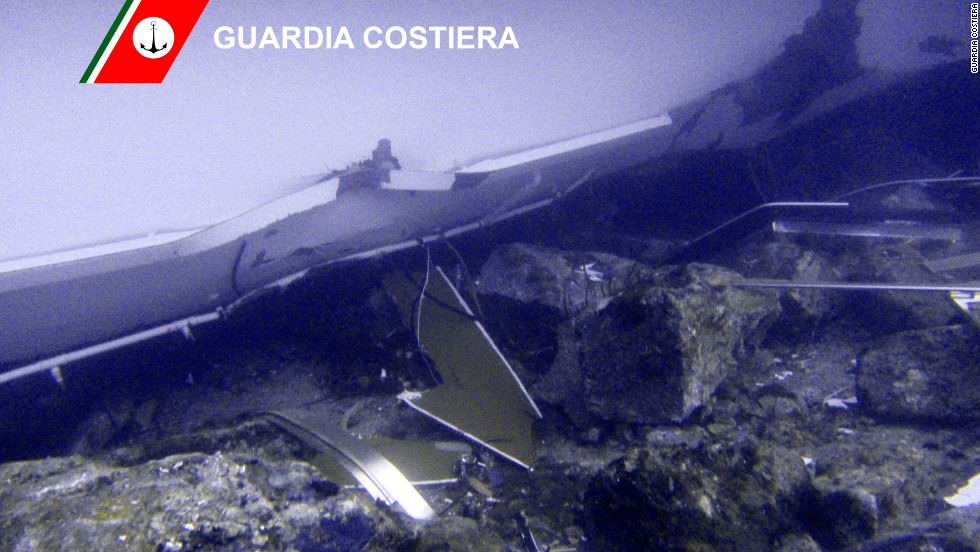 The Italian Coast Guard has released photos of the rescue effort at the cruise ship Costa Concordia near Giglio Island, Italy.