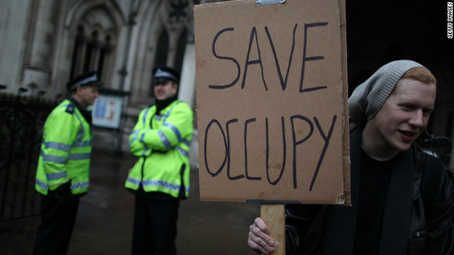 Occupy London protesters have been camped outside St Paul's Cathedral in the City of London since last October.