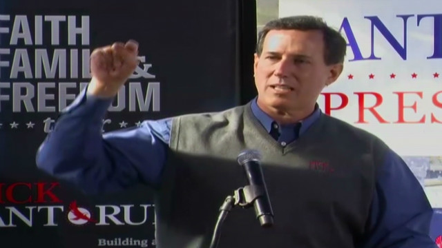 Santorum fires back at Gingrich, Romney