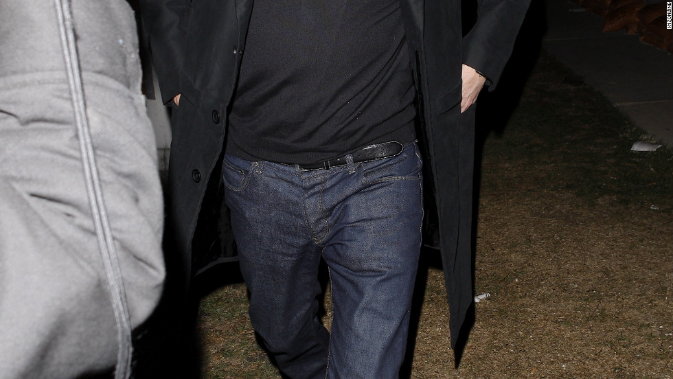 Colin Firth leaves a retsaurant in West Hollywood.