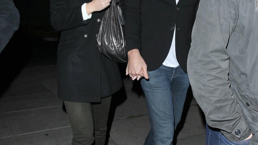 Emily Blunt and John Krasinski leave a restaurant in West Hollywood.