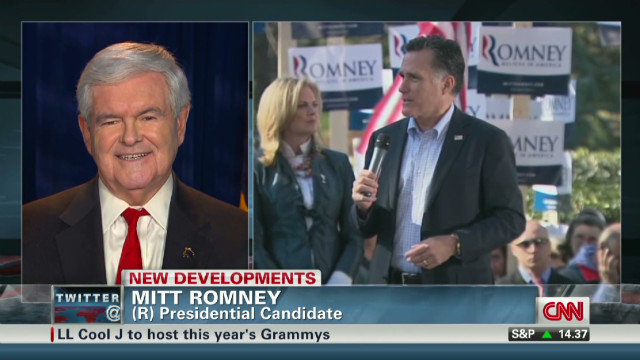 Gingrich responds to Romney's job attack