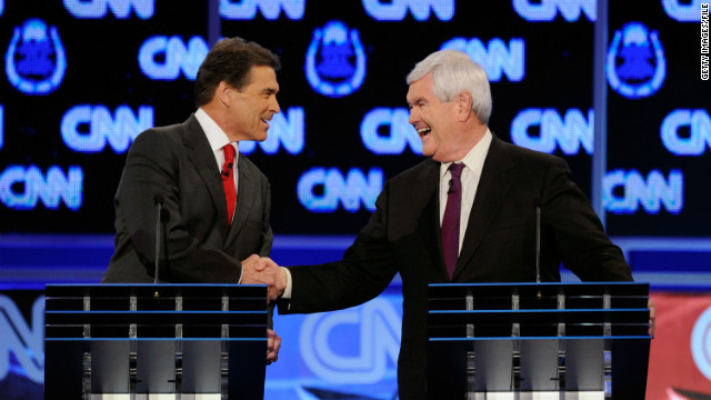 "Texas Gov. Rick Perry's departure means former House Speaker Newt Gingrich now leads the ""anybody but Mitt"" pack."