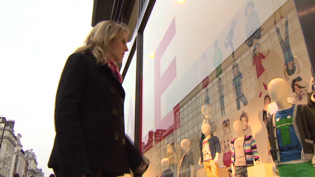 Spending falls on Europe's high streets