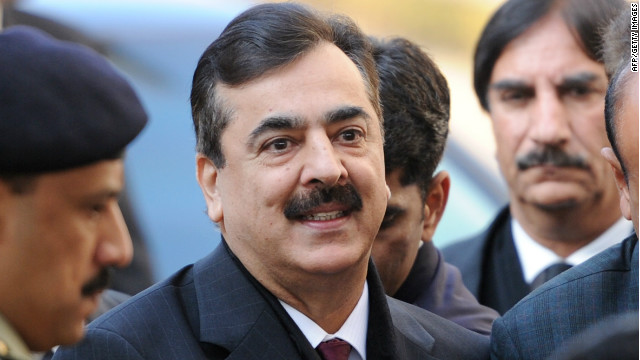 Pakistani Prime Minister Yousuf Raza Gilani arrives at the Supreme Court in Islamabad in January.