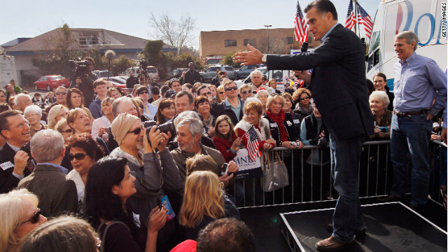 Mitt Romney greets supporters in Charleston, South Carolina, on January 19, the day Rick Perry dropped out of the race.