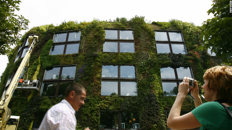 Green wall pioneer, Patrick Blanc created this flourishing facade for the Musee du quai Branly, Paris in 2005.