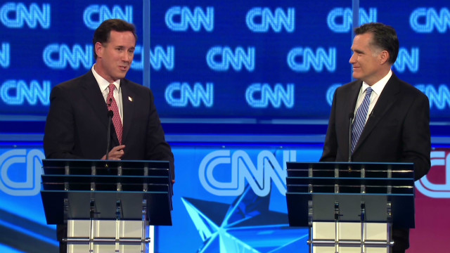 Santorum, Romney battle health care