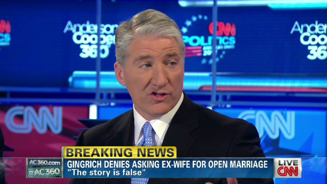 Fair to ask Gingrich about ex at debate?
