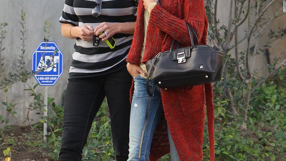Zoe Saldana roams around Beverly Hills.