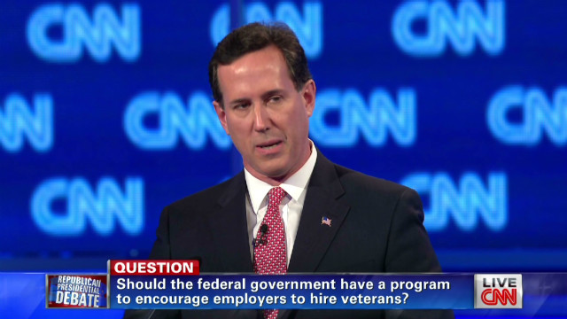 exp Santorum says Obama veterans plan disgusting_00002001