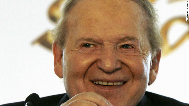 Casino mogul Sheldon Adelson, pictured in 2007, may now be ready to put his millions behind Mitt Romney.