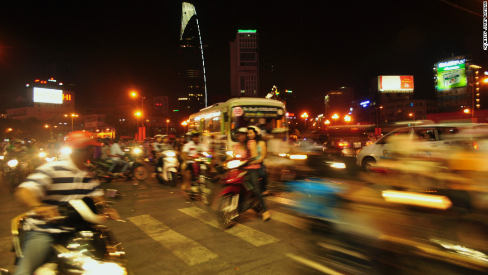 "Jerry Ratigan took this photo of what he called ""organized chaos"" in Ho Chi Minh City. ""This one was special to me as I was able to capture the liveliness and energy around the city center."""